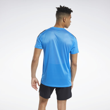 Men Fitness & Training Blue Workout Ready Tech Tee