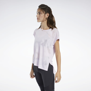 Dam Yoga Rosa Burnout Tee