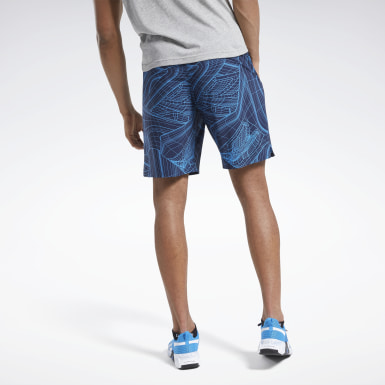 Men Training Blue Speed Shorts