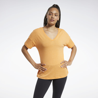 Women Fitness & Training Orange ACTIVCHILL+COTTON Tee