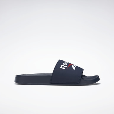 Men Swimming Blue Reebok Fulgere Slides
