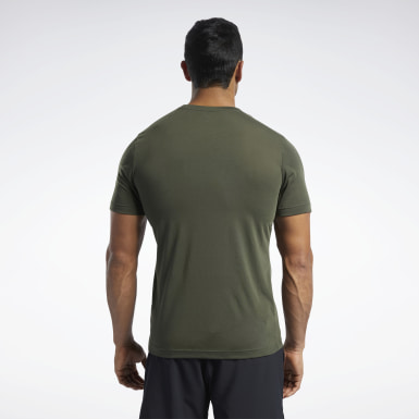 Men Fitness & Training Green Reebok CrossFit® Read Tee