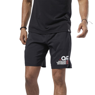Men Training Black Retro Winter Epic Shorts