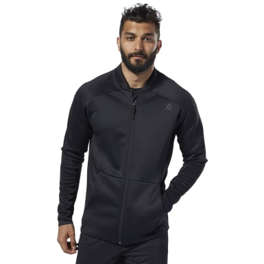 Men Training Black One Series Training Spacer Track Jacket