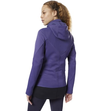 Women Fitness & Training Purple Thermowarm Deltapeak Control Hoodie