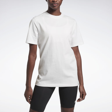 Women Fitness & Training White VB Logo Tee