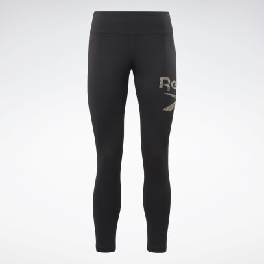 Leggings Modern Safari Cotton Nero Donna Fitness & Training