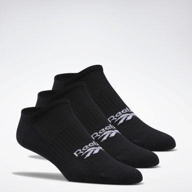 Classics Black Classics Foundation Invisible Socks 3 Pairs