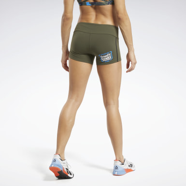 Women CrossFit Green Reebok CrossFit® Games Chase Solid Booty Shorts