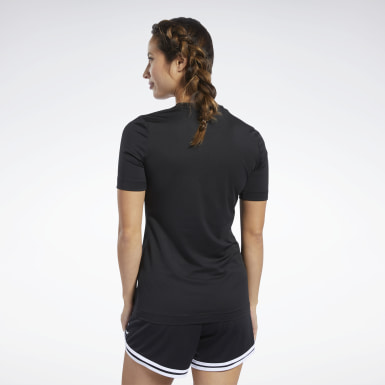 Women Yoga Black Workout Ready Supremium Tee