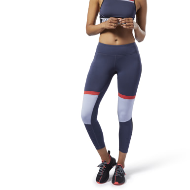 Women Fitness & Training Blue Meet You There Panelled Tights