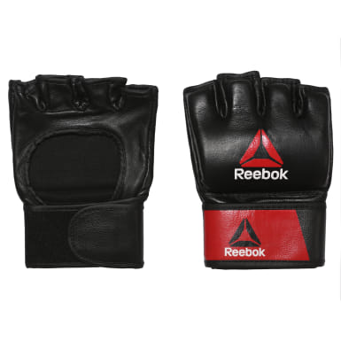 Fitness & Training Black Combat Leather MMA Glove - XL