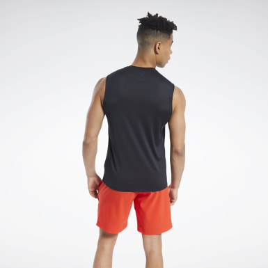 Men Fitness & Training Black Workout Ready ACTIVCHILL Sleeveless Tee