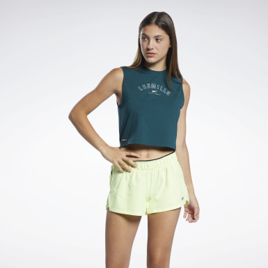 Canotta Les Mills® Bodycombat® Cropped Verde Donna Studio