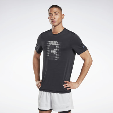 Men Running Black Run ACTIVCHILL Graphic Tee