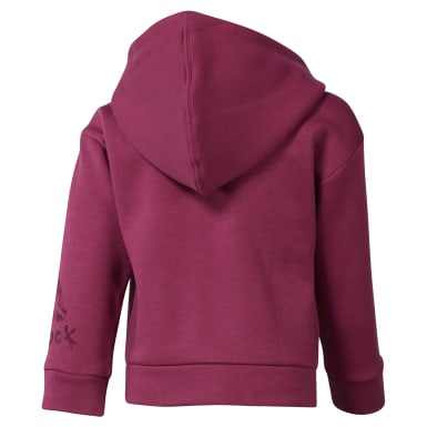 Girls Training Pink Girls Elements Fullzip Fleece Hoody