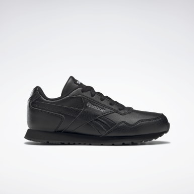 Boys Classics Black Reebok Royal Glide Ripple Clip Shoes