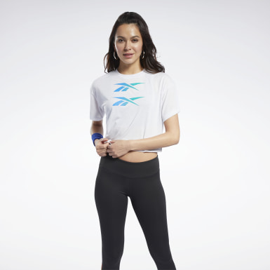 Women Fitness & Training White Boxy Tee
