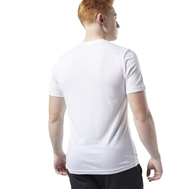 T-shirt Tri-Blend Crew Bianco Uomo Fitness & Training