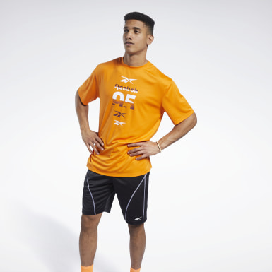 Men Fitness & Training Orange MYT Tee