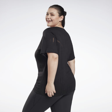 Women HIIT Black Burnout T-Shirt (Plus Size)