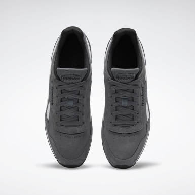 Men Classics Grey Reebok Royal Glide Shoes
