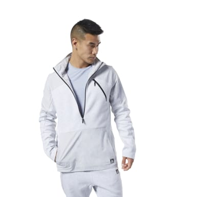 Men Fitness & Training Grey Training Supply Control Hoodie