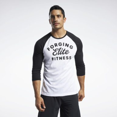 Men Cross Training White Reebok CrossFit® FEF Raglan T-Shirt