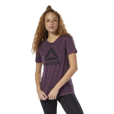 Women Fitness & Training Purple WOR Logo Tee