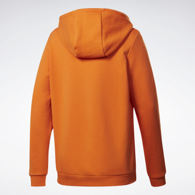 Sweat à Capuche avec un grand logo Classics Orange Femmes Classics