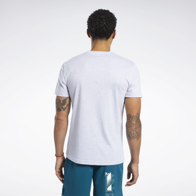 Men Cross Training Grey Reebok CrossFit® Anvil Tee