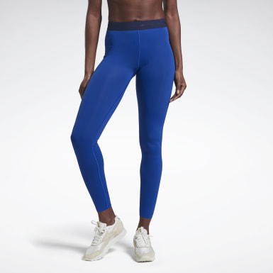 Women Fitness & Training Blue VB Performance Tights