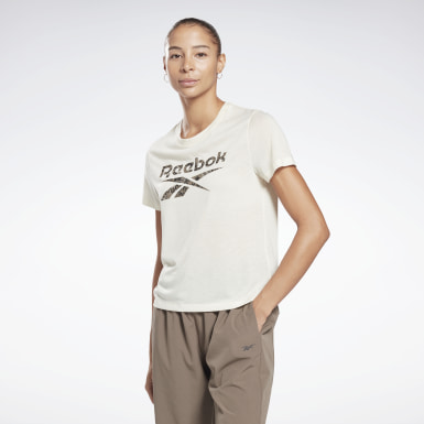 T-Shirt Modern Safari Logo Blanc Femmes Fitness & Training