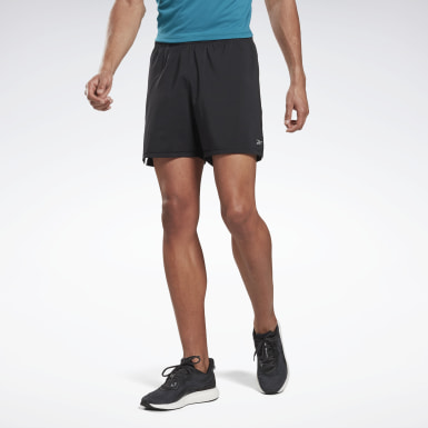 Shorts Running Essentials 2 En 1 Negro Hombre Running