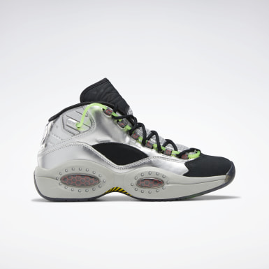 Classics Silver Question Mid Basketball Shoes