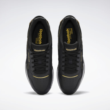 Women Classics Black Reebok Royal Glide Ripple Clip Shoes