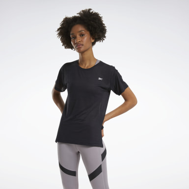 Women Cycling Black Workout Ready ACTIVCHILL Tee
