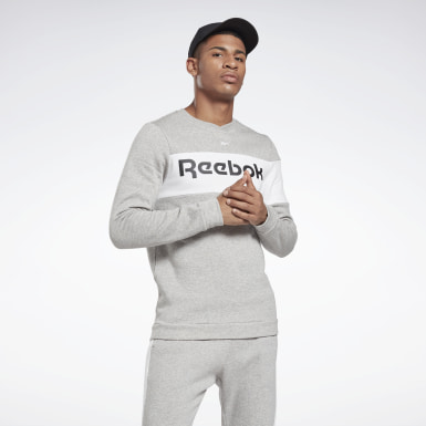 Herr Fitness & Träning Grå Training Essentials Fleece Crew Sweatshirt
