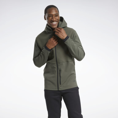 Men Montanhismo Green Thermowarm Deltapeak Full-Zip Control Hoodie