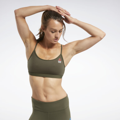 Bra CrossFit® Skinny Strap Read Medium-Impact Verde Donna Cross Training
