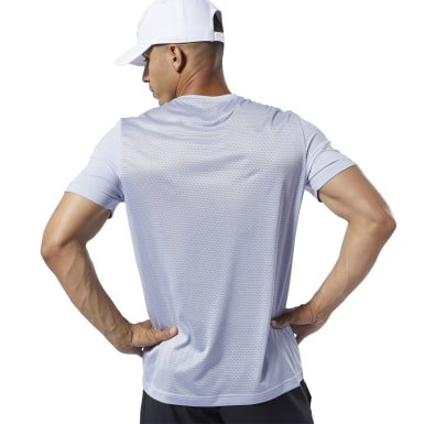 Polo Wor Activchill Graphic Ss Púrpura Hombre Fitness & Training