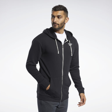 Männer Fitness & Training Training Essentials Hoodie Schwarz