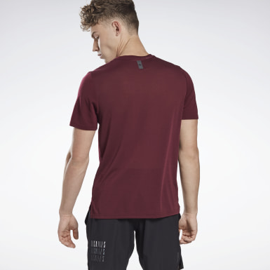 Heren Studio Bordeaux LES MILLS® BODYCOMBAT® Supremium T-shirt