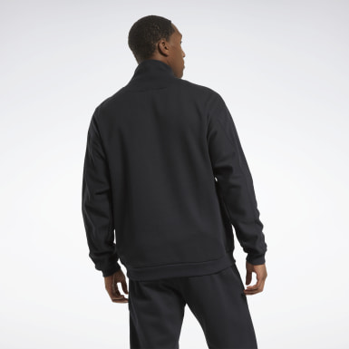 Men Outdoor Black MYT Quilted Half-Zip Jacket