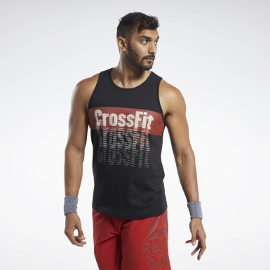 Mænd Cross Training Black Reebok CrossFit® Repeat Graphic Tank Top