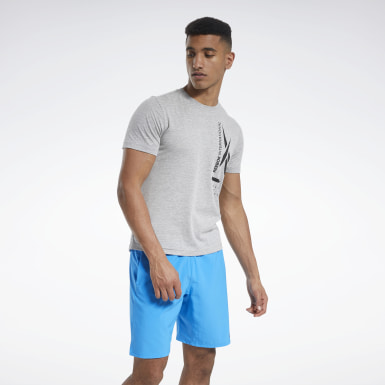 Men Training Grey Graphic Tee