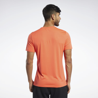 Men Studio Orange Workout Ready Graphic T-Shirt