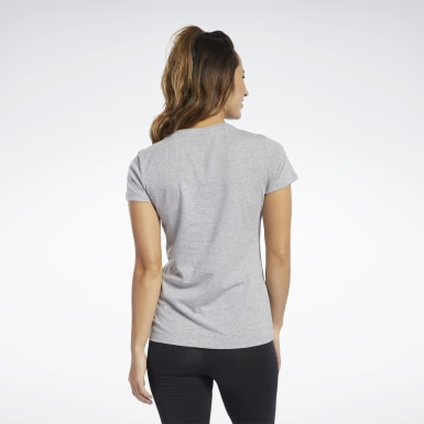 Women Training Grey Vector Graphic Tee