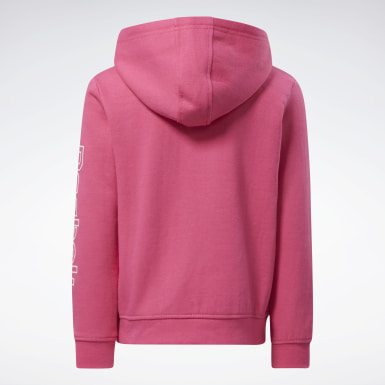 Sudadera Reebok Outline Rosa Niña Fitness & Training