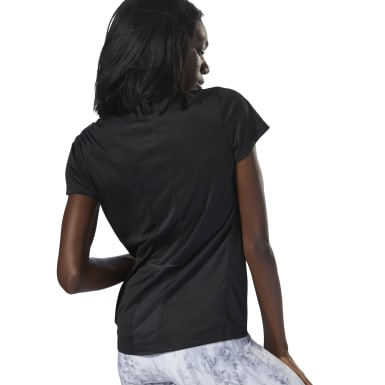 Women Running Black Running Essentials Short Sleeve Tee